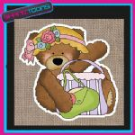 CUTE BEAR DESIGN JUTE  SHOPPING LADIES GIFT BAG 004
